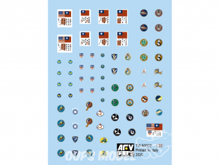 AFV Club kit personnages TW60022 Decalques Flying Tigers 14 Air Force CACW Sticker 1/32