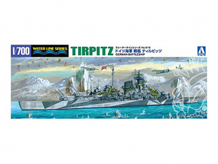AOSHIMA maquette bateau 46067 Tirpitz Navire Allemand 1/700