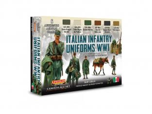 Lifecolor set de peintures CS50 Ensemble d'uniformes italiens 2 WWI