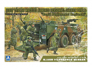 """Aoshima maquette militaire 57827 JGSDF Type 96 Type B Véhicule blindé sur roues """"Regiment de deploiement rapide"""" 1/72"""