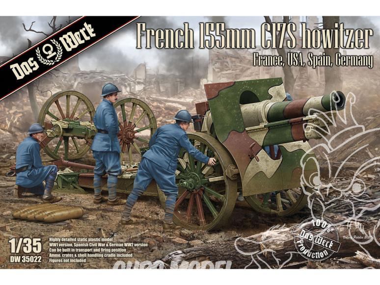 DAS WERK maquette militaire DW35022 Obusier français Schneider de 155 mm C17S 1/35