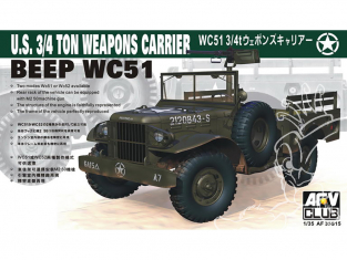 Afv Club maquette militaire AF35s15 BEEP WC51 ou WC52 3/4T avec mitrailleuse 1/35