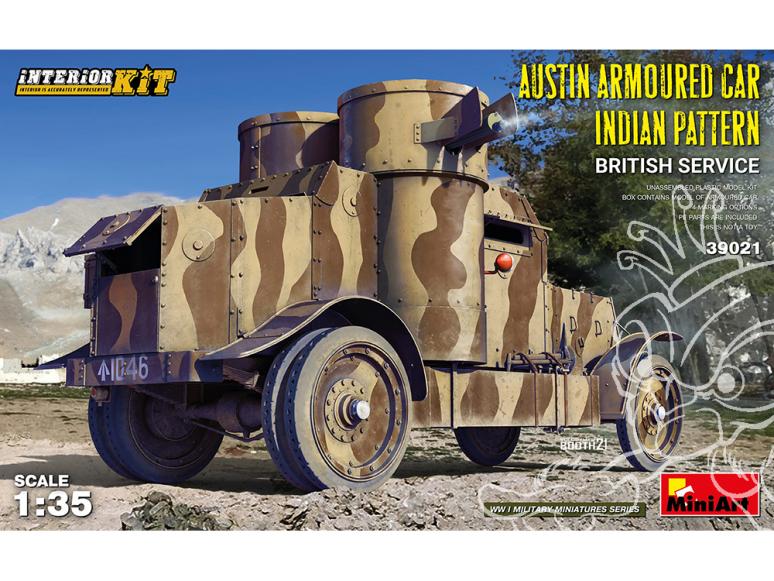 MINI ART maquette militaire 39021 MOTIF INDIEN DE VOITURE BLINDÉE AUSTIN SERVICE BRITANNIQUE ENSEMBLE INTÉRIEUR 1/35