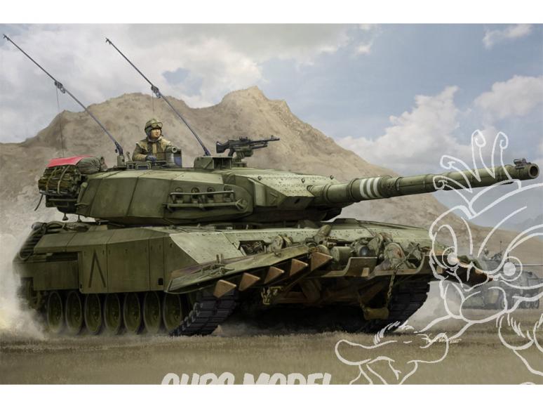 Hobby Boss maquette militaire 84557 Leopard C2 système de blindage étendu modulaire avec charrue de dragage de mines 1/35