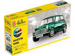 HELLER maquette voiture 56153 STARTER KIT Mini inclus peintures principale colle et pinceau 1/43