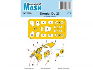 Special Hobby Masque avion M72028 Pour Dornier Do.27 1/72