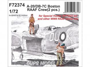 Cmk figurine F72374 A-20/DB-7C Boston RAAF Équipage 1/72