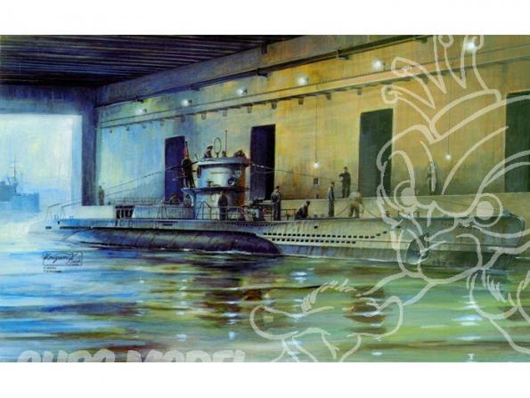 AFV maquette bateau 73505 Unterseeboot type VIID 1/350
