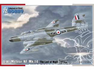 Special Hobby maquette avion 72364 A.W. Meteor NF Mk.14 'The Last of Night Fighters' une version Française 1/72