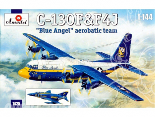 Amodel maquettes avion 1425 C-130F et F4J Blue Angel 1/144
