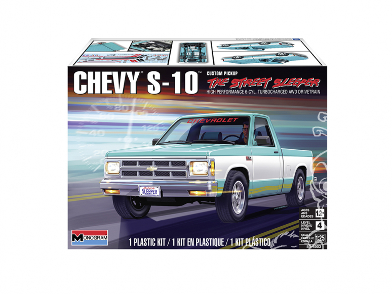 Revell US maquette voiture 4503 Chevy S-10 Custom Pickup 1/25