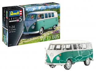 Revell maquette voiture 67675 Model set VW Combi VW T1 Bus peintures principale colle et pinceau 1/24