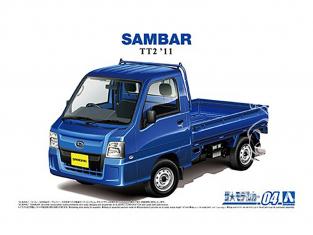 Aoshima maquette voiture 58282 Subaru TT2 Sambar Truck WR 2011 1/24