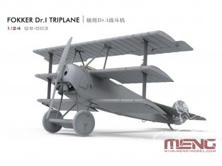 Meng maquette avion QS-003 Fokker Dr.I, Maître du Ciel 1/24