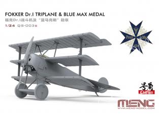Meng maquette avion QS-003S Fokker Dr.I, Maître du Ciel Blue Max, la légende de la gloire 1/24