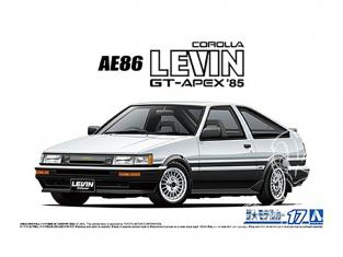Aoshima maquette voiture 61923 Toyota Corolla Levin AE86 GT-APEX 1985 1/24