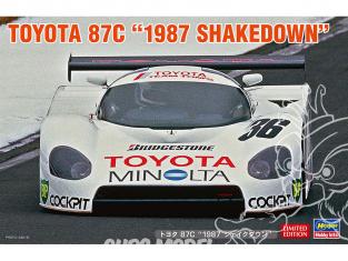 Hasegawa maquette voiture 20500 Toyota 87C « 1987 Shakedown » 1/24