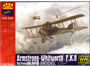 Copper State Models maquettes avions 1030 Armstrong-Whitworth F.K.8 Mid-version 1/48