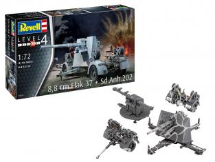 Revell maquette militaire 03325 8,8 cm Flak 37 avec Sd.Anh.202 1/72