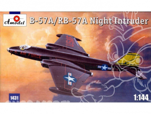 Amodel maquettes avion 1431  Martin B-57 Canberra Night Intruder 1/144