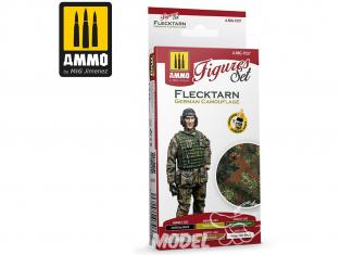 MIG peinture Figurines 7037 Set Camouflage uniformes Allemand Flecktarn 6 x 17ml
