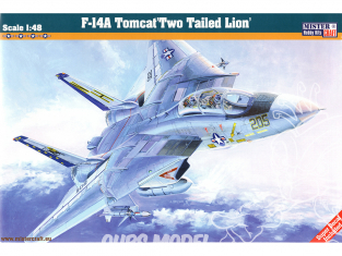 MASTER CRAFT maquette avion 070045 F14-Tomcat Two Tailed Lion 1/48