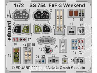 Eduard photodecoupe avion SS754 Zoom amélioration F6F-3 WeekEnd Eduard 1/72