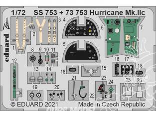Eduard photodecoupe avion 73753 Amélioration Hurricane Mk.IIc Zvezda 1/72