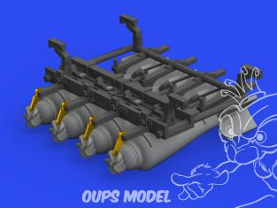 Eduard kit d'amelioration avion brassin 648662 Support bombes 20lb Sopwith Camel Eduard 1/48