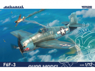 EDUARD maquette avion 7457 F6F-3 WeekEnd Edition 1/72