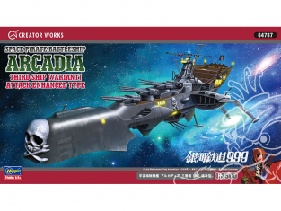 Hasegawa maquette 64787 Albator Space Pirate Battleship Arcadia Troisième vaisseau 1/2500