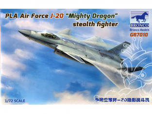 Bronco maquette avion GB 7010 PLA Air Force J-20 Mighty Dragon stealth Fighter 1/72