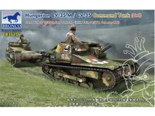 Bronco maquette militaire CB35216 Char de commandement hongrois CV-35.M/CV-35 (2en1) L3/35 Tankette italienne 1/35