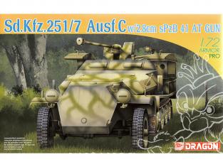 Dragon maquette militaire 7315 Sd.Kfz.251/7 Ausf.C w/2.8cm Spzb 41 AT Gun 1/72