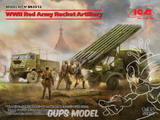 Icm maquette militaire DS3512 WWII Red Army Rocket Artillery 1/35