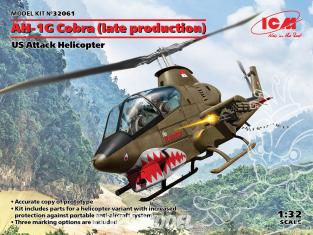 Icm maquette helicoptére 32061 AH-1G Cobra (late production) Hélicoptère d'attaque américain 1/32