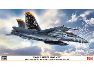 "Hasegawa maquette avion 02380 F/A-18F Super Hornet ""VFA-103 Jolly Rogers 75th Anniversary"" 1/72"