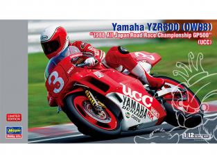 "Hasegawa maquette moto 21734 Yamaha YZR500 (0W98) ""1988 All Japan Road Race Championship GP500"" (UCC) 1/12"