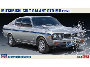 Hasegawa maquette voiture 20512 Mitsubishi Colt Galant GTO-M II 1970 1/24