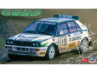 HASEGAWA maquette voiture 20507 Astra Lancia Super Delta « 1993 1000 rallye du lac » 1/24