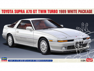 Hasegawa maquette voiture 20504 Toyota Supra A70 GT Twin Turbo 1989 Blanche 1/24