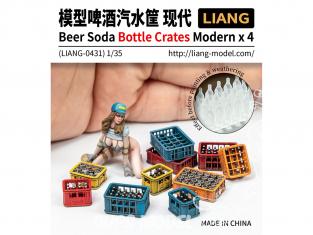 Liang Model 0431 Accessoires Bouteilles et caisses Biere / Soda modernes 1/35