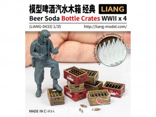Liang Model 0433 Accessoires Bouteilles et caisses Bière / Soda WWII 1/35
