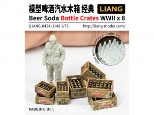Liang Model 0434 Accessoires Bouteilles et caisses Biere / Soda WWII 1/48 - 1/72