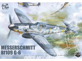 Border model maquette avion BF-001 Messerschmitt Bf109 G-6 avec WGr.21 & Moteur complet Edition Limitée 1/35