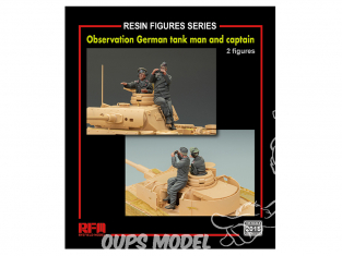 Rye Field Model maquette militaire 2015 Figurine observateur de char Allemand + Capitaine 1/35