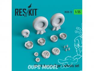 ResKit kit d'amelioration Helico RS35-0012 Ensemble de roues AH-64 Apache Type 1 1/35