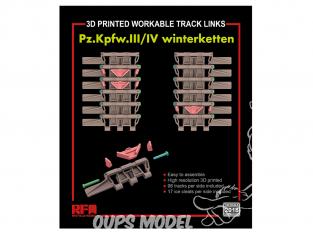 Rye Field Model maquette militaire 2018 Chenilles maillon par maillon Pz.Kpfw.III/IV Winterketten 1/35