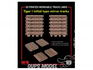 Rye Field Model maquette militaire 2019 Chenilles maillon par maillon Tigre I Initial type mirror tracks 1/35