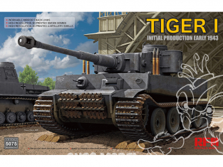 Rye Field Model maquette militaire 5075 Tigre I Production Initiale Début 1943 100 1/35